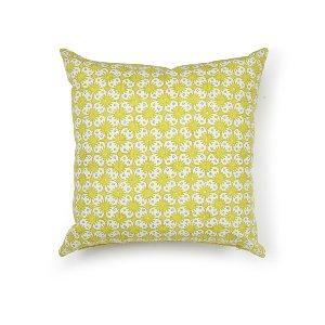 Citrus/Blue/Gray Floral Cushion