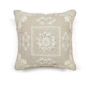 Taupe Crocheted Cushion