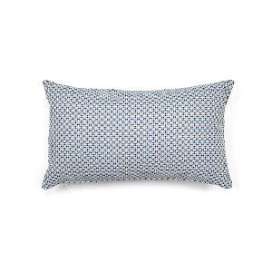 Blue & White Textured  Kidney Cushion