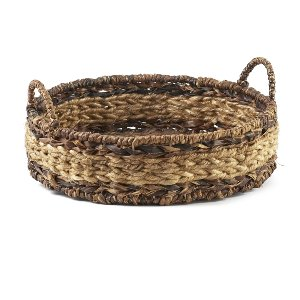 Basket- Round Two-Tone With Handles