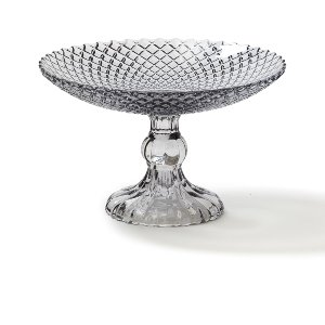 Gray Diamond Faceted Dessert Stand