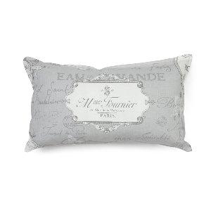 French Gray Parisian Kidney Cushion