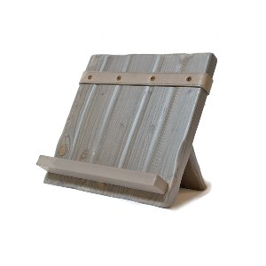 Gray Wood Book Stand