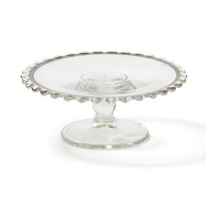 Tiny Clear Glass Sweets Stand