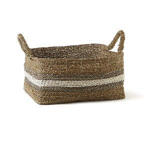 Basket-Cream and Gray, Small