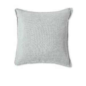 Gray Linen & Velvet Cushion