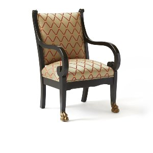 Hugo- Black Empire Chair
