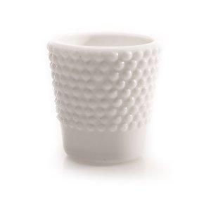 White Hobnail  Pressed Glass Votive
