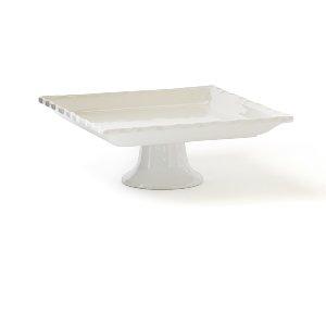 Large Square Dessert Stand - White