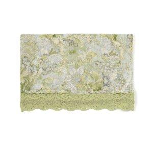 Green Luxurious Linen Runner