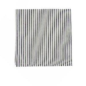 Black/Ivory Cotton Ticking Stripe Napkin