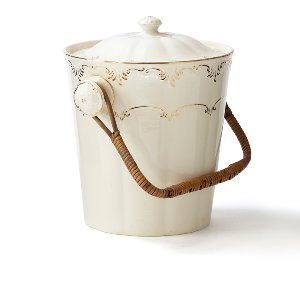 Vintage Cream & Gold Ice Bucket