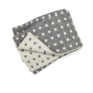 Gray Polka Dot Throw