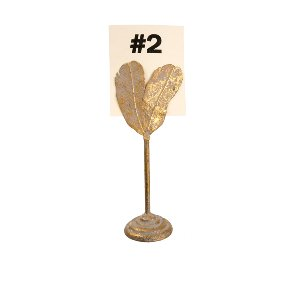 Gold Feather Card Holder