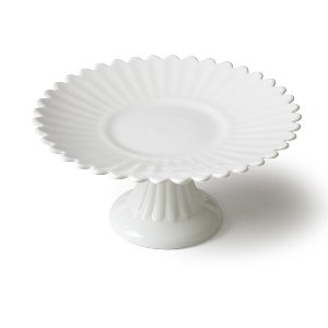 Daisy Petal White Cake Stand-Large