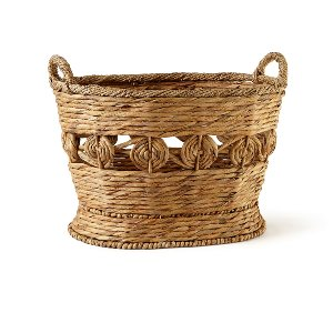 Basket-Floral Detail Small