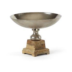 Steel & Wood Bowl Large