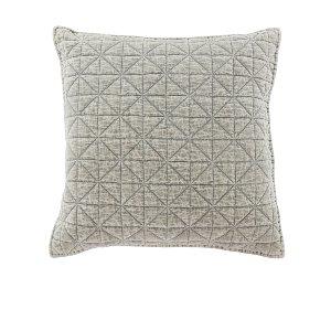 Quilted Gray Velvet Cushion