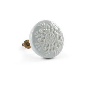 Knob- Gray/Blue Medallion