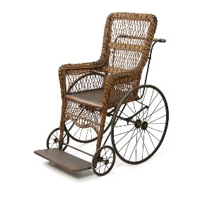 Downton- Antique Wicker Motion Chair