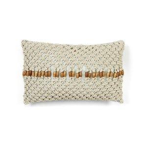 Crocheted w/ Wood Beads Cushion
