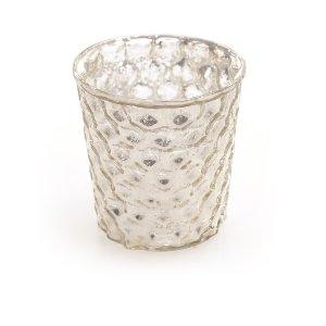 Graceful Mercury Glass- Hobnail Small
