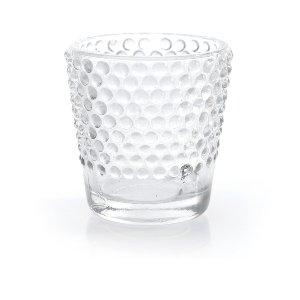 Clear Hobnail Pressed Glass Votive