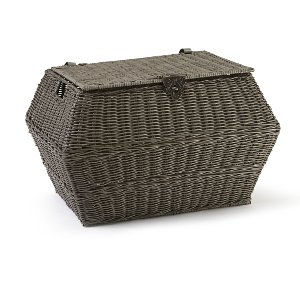 Basket- Woven Gray With Lid