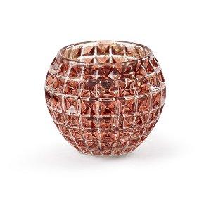 Cranberry Cut Glass Medium Votive