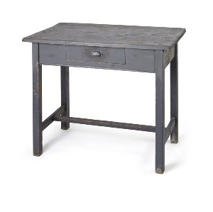 Auguste- Rustic Gray Writing Table