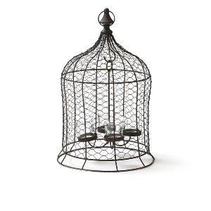 Wire Birdcage Hanging Lantern