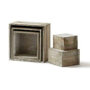 Whitewashed Riser Box Ensemble