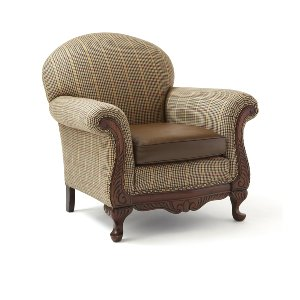 Ralph Lauren- Leather & Wool  Chair
