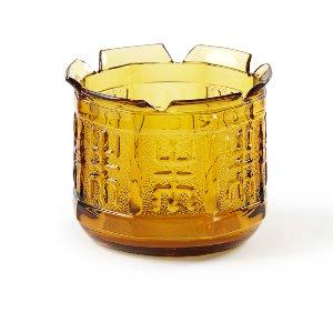 Small Gold Glass Jar