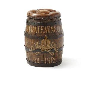 Chateau- Tufted Leather Stool