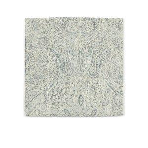 Gray/Blue Paisley Linen Napkin