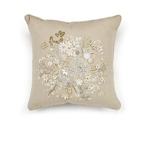 Flower Petal  Embroidered Cushion