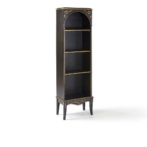 Stewart- Petite Black & Gold Bookcase