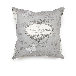 French Gray Parisian Print Cushion