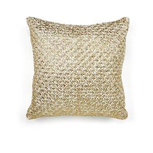 Gold/White Mesh Cushion