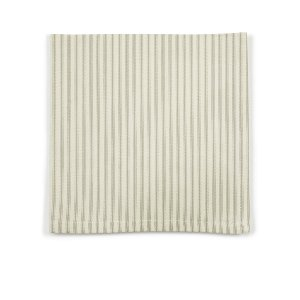 Gray/Green & Ivory Ticking Stripe Napkin