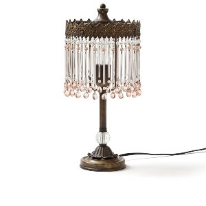 Angelica- Blush/Pink Crystal Lamp