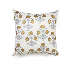 Gold/Silver/White Modern Floral  Cushion
