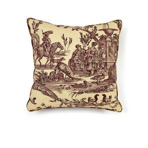 Aubergine Toile Cushion