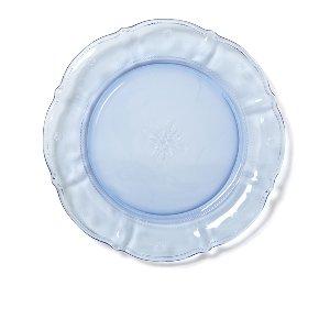 Blue Glass Scalloped Dinner Plate