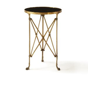 Leona- Directoire Accent Table- Black