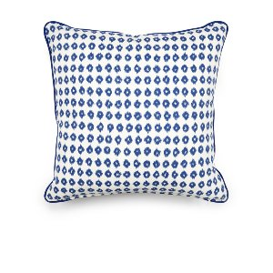 Blue & White Ikat Cushion