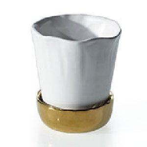 White Pot/Gold Saucer-S