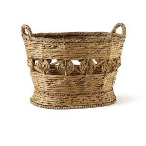 Basket- Floral Detail Large