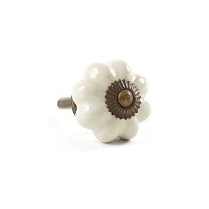 Knob- Ivory Floral